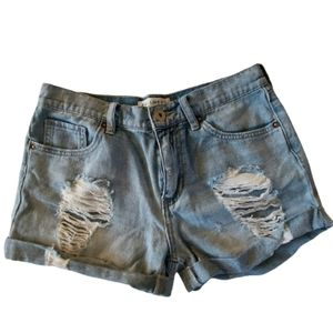 Bullhead Boyfriend Short Distressed Jean's Shorts